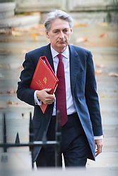 Downing Street, London, December 1st 2015. FOREIGN SECRETARY PHILIP HAMMOND  arrives at Downing Street for the weekly cabinet meeting. ///FOR LICENCING CONTACT: paul@pauldaveycreative.co.uk TEL:+44 (0) 7966 016 296 or +44 (0) 20 8969 6875. ©2015 Paul R Davey. All rights reserved.