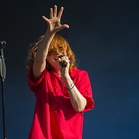 Goldfrapp in concert at Fiesta x FOLD Festival, Kelvingrove Park, Glasgow, Great Britain 1st July, 2018