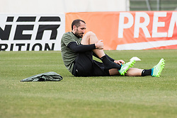 April 2, 2018 - Vinovo, Piedmont/Turin, Italy - Giorgio Chiellini during the training session before the Champions League match against Real Madrid, in Vinovo at Juventus Center, Italy 2nd April 2018  (Credit Image: © Alberto Gandolfo/Pacific Press via ZUMA Wire)