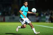 Forest Green Rovers Reuben Reid(26) on the ball during the 2nd round of the Carabao EFL Cup match between Wycombe Wanderers and Forest Green Rovers at Adams Park, High Wycombe, England on 28 August 2018.