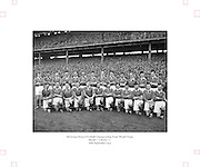 All Ireland Senior Football Championship Final, Kerry v Meath, 26091954AISFCF, Meath 1-13 Kerry 1-7, 26.09.1954, 09.26.1954, 26th September 1954,.Meath Team:.Front Row (from left) Patsy Ratty, Jim Reilly, Kevin Lenehan, M O'Brien, Matthem McDonnell, X Dermott, Paddy M, Patsy McGearty, Billie Rattigan, Larry O'Brien, John Clarke, Miceal O'Brien. Back Row (from left) PJ Brady, Edward Durnin, Richard M, Jim Farrell, Brian Smith, Kevin Mc Connell, Thomas Moriarty, X Flanagan, Frankie Byrne, Gerard Smith, X O'Brien. .