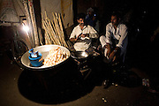 Vendors in the 'Old City' district of Lahore resort to small gas powered lamps during 'Load-shedding' or power outages in the city...The price of gas cylinders and gas powered lighting has doubled in recent days as a result of new power usage regulations,  restrictions and increased load shedding come into effect.