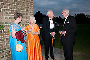 CLAIRE PEPPIATT; MRS. ROSEMARIE HULL; JOHN HULL; HUGH PEPPIATT, The Goodwood Ball. In aid of Gt. Ormond St. hospital. Goodwood House. 27 July 2011. <br /> <br />  , -DO NOT ARCHIVE-© Copyright Photograph by Dafydd Jones. 248 Clapham Rd. London SW9 0PZ. Tel 0207 820 0771. www.dafjones.com.