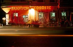 TURKEY ISTANBUL JUL02 - Nighttime illumination at a bar on the Bosphorus near Bebek, Istanbul...jre/Photo by Jiri Rezac..© Jiri Rezac 2002..Contact: +44 (0) 7050 110 417.Mobile:   +44 (0) 7801 337 683.Office:    +44 (0) 20 8968 9635..Email:     jiri@jirirezac.com.Web:     www.jirirezac.com