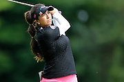 GERINA PILLER takes a shot from the 7th fairway at the LPGA Championship at Monroe Golf Club in Pittsford, New York on August 17, 2014.