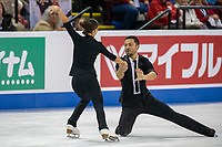 KELOWNA, BC - OCTOBER 25: Great Britain ice dancers Lilah Fear and Lewis Gibson perform during rhythm dance of Skate Canada International at Prospera Place on October 25, 2019 in Kelowna, Canada. (Photo by Marissa Baecker/Shoot the Breeze)