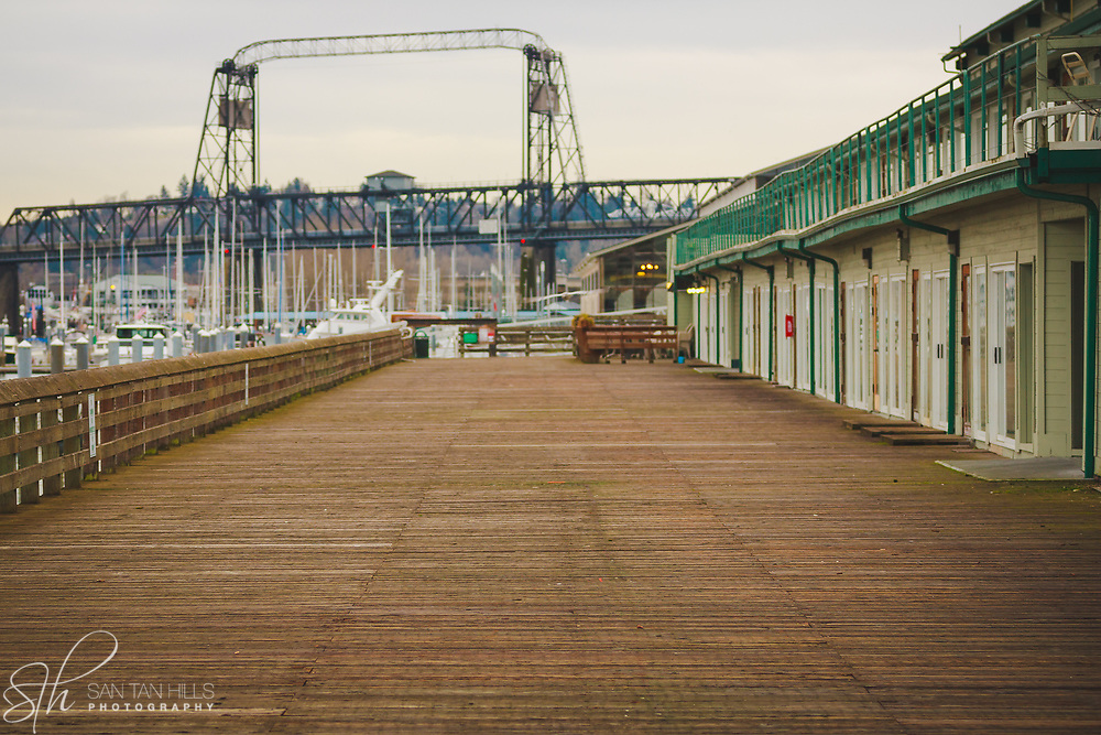 Boardwalk along Foss Waterway - Tacoma, WA