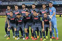 Formazione del Napoli, Line Ups Team <br /> Napoli 07-05-2015 Stadio San Paolo <br /> Football Calcio UEFA Europa League Semi-finals, First leg. Napoli - Dnipro.<br /> Foto Cesare Purini / Insidefoto