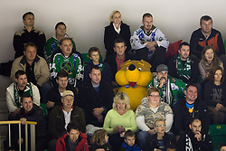 "25.11.2012, Hala Tivoli, Ljubljana, SLO, EBEL, HDD Telemach Olimpija Ljubljana vs HC TWK Innsbruck ""Die Haie"", 24. Runde, in picture Fans and teddy bear during the Erste Bank Icehockey League 22nd Round match between HDD Telemach Olimpija Ljubljana and HC TWK Innsbruck ""Die Haie"" at the Hala Tivoli, Ljubljana, Slovenia on 2012/11/25. (Photo By Matic Klansek Velej / Sportida)"