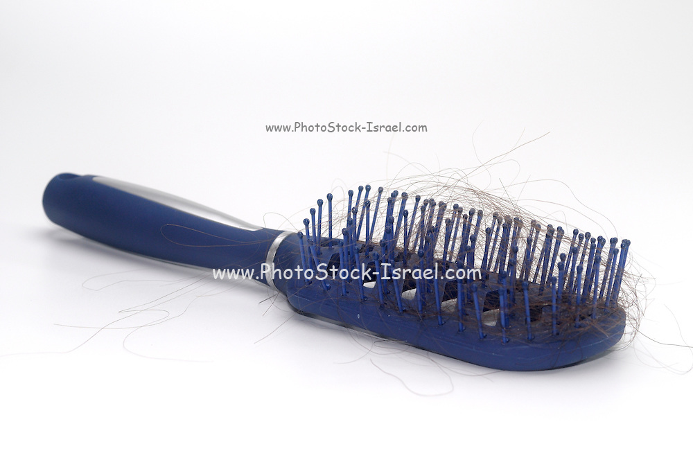 used Hair brush with hair selective focus
