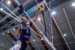 18-08-2017 NED: Oefeninterland Nederland - Italië, Doetinchem<br /> De Nederlandse volleybal mannen spelen hun eerste oefeninterland van twee in SaZa topsporthal tegen Italie als laatste voorbereiding op het EK in Polen. Nederland verliest met 3-0 / Wessel Keemink #2