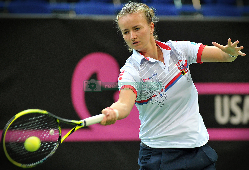 November 8, 2018 - Prague, Czech Republic - Barbora Krecikova of the Czech Republic during practice ahead of the 2018 Fed Cup Final between the Czech Republic and the United States of America in Prague in the Czech Republic. The Czech Republic will face United States in the Tennis Fed Cup World Group on 10 and 11 November 2018. (Credit Image: © Slavek Ruta/ZUMA Wire)