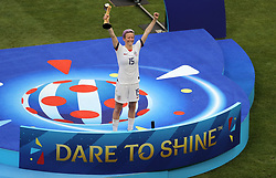 USA's Megan Rapinoe receives the The Golden Ball in the FIFA Women's World Cup 2019
