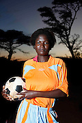 Muday Rachal Thivhawhudzi player number 2 for Tshiombo White Pool womens football club. Nr Thohoyandou. Venda. Limpopo Province. South Africa. .Action Aid..Pictures by Zute & Demelza Lightfoot. www.lightfootphoto.com zutelightfoot@yahoo.co.uk +27(0)715957308.