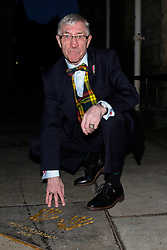 Pictured: Ken's handprints in the City Chambers quadrangle<br /> A ceremony at the City Chambers for the recipient of this year's award, Ken Buchanan, who was presented with a Loving Cup by the Lord Provost. He was also reunited with his hand-prints which have been set in a flagstone within the grounds of the City Chambers and see his name etched on the city&rsquo;s Edinburgh Award honour board <br /> <br /> <br /> <br /> Scott Louden | EEm 3 March 2017
