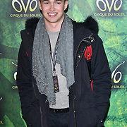 London, England, UK. 10th January 2018. AJ Pritchard arrives at Cirque du Soleil OVO - UK premiere at Royal Albert Hall.