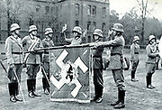 German army recruits swear allegiance to the Nazi Party and state, 1935.