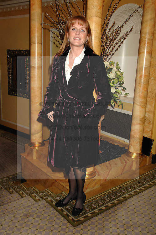 SARAH, DUCHESS OF YORK at the Chain of Hope Ball held at The Dorchester, Park Lane, London on 4th February 2008.<br />