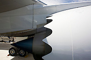 The Boeing-manufactured 787 Dreamliner (N787BX) at the Farnborough Airshow.