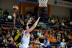 Roy-Devyn-Lane Marble of Aris vs Tomaz Bolcina #33 of Helios Suns during basketball match between KK Helios Suns (SLO) and Aris B.S.A.-2003 (GRE) in Round #1 of FIBA Champions League 2016/17, on October 18, 2016 in Sports arena Domzale, Slovenia. Photo by Vid Ponikvar / Sportida