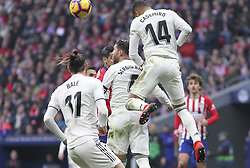 February 9, 2019 - Madrid, Madrid, Spain - Casemiro of Real Madrid in action during La Liga Spanish championship, , football match between Atletico de Madrid and Real Madrid, February 09th, in Wanda Metropolitano Stadium in Madrid, Spain. (Credit Image: © AFP7 via ZUMA Wire)