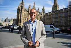 © Licensed to London News Pictures. 13/09/2016. London, UK.  Labour MP CLIVE LEWIS attends a rally outside the Parliament in London for the Orgreave Truth and Justice Campaign, which calls for a public inquiry into the June 1984 confrontation between police and pickets at the British Steel Corporation coking plant in Orgreave, South Yorkshire. Photo credit: Ben Cawthra/LNP