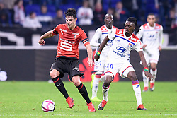 December 5, 2018 - Lyon, France - 08 CLEMENT GRENIER (REN) - 10 BERTRAND TRAORE  (Credit Image: © Panoramic via ZUMA Press)