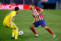 Atletico de Madrid´s Carrasco (R) during Champions League soccer match between Atletico de Madrid and FC Astana at Vicente Calderon stadium in Madrid, Spain. October 21, 2015. (ALTERPHOTOS/Victor Blanco)