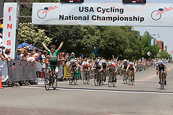 Colorado State's Phil Mann wins the Men's Division I criterium.  The 2007 USA Cycling Collegiate Road Championship criterium was held in downtown Lawrence, Kansas on May 13, 2007.