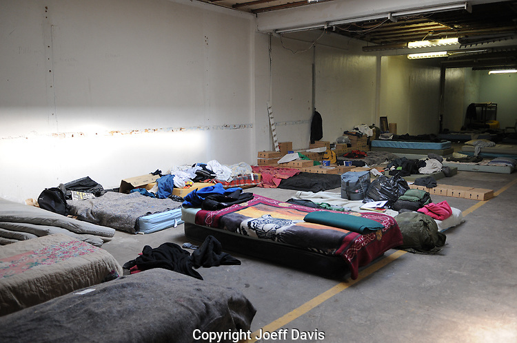 November 3, 2011 - According to Occupy Atlanta, roughly 100 Occupy Atlanta members are sleeping in the 4th floor of the Peachtree-Pine shelter.