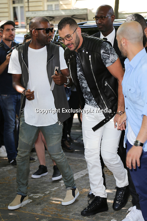 KARIM BENZEMA - ARRIVALS IN PARADE BALMAIN HOMME - PARIS FASHION WEEK<br /> &copy;Exclusivepix Media