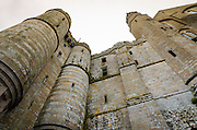 The monastery wall, Mont Saint-Michel, Normandy, France