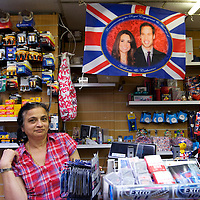 An innumerable variety of keepsakes depicting PRINCE WILLIAM and KATE MIDDLETON are on sale in London souvenir shops days leading up to their royal wedding on April 29, 2011 in Westminster Abbey.