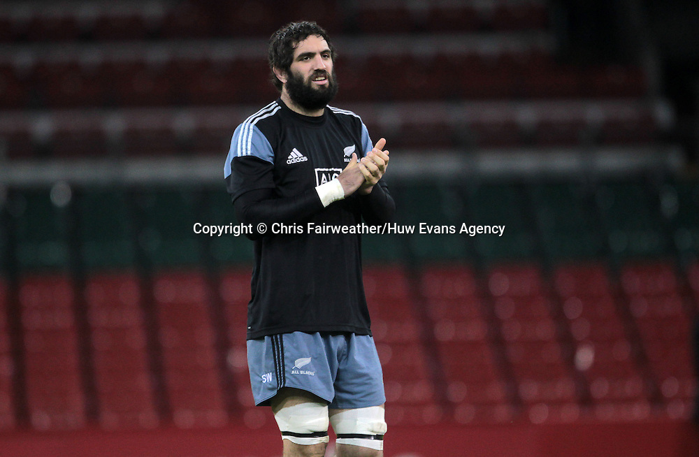 21.11.14 - New Zealand All Blacks Captains Run - Sam Whitelock during training.<br /> <br /> &copy; Huw Evans Picture Agency