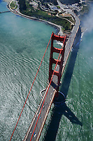 The Golden Gate Bridge & Fort Point (Aerial)