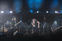 14.05.2015, Red Bull Ring, Spielberg, AUT, AC DC, Rock or Bust Tour, Spielberg, Konzert, im Bild Gitarrist Stevie Young, Lead-Gitarrist Angus Young, Sänger Brian Johnson, Schlagzeuger Chris Slade und Bassist Cliff Williams. Die australische Band AC/DC gastiert im Zuge ihrer Rock or Bust World Tour am 14. Mai in Spielberg // AC/DC perform on stage during their Rock or Bust Tour at the Red Bull Ring, Spielberg, Austria on 2015/05/14. EXPA Pictures © 2015, PhotoCredit: EXPA/ Sandro Zangrando