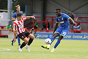 Karleigh Osbourne in action during the Pre-Season Friendly match between AFC Wimbledon and Cheltenham Town at the Cherry Red Records Stadium, Kingston, England on 1 August 2015. Photo by Stuart Butcher.