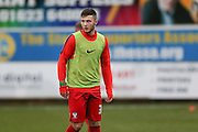 York City forward, on loan from Middlesbrough, Bradley Fewster during the Sky Bet League 2 match between Mansfield Town and York City at the One Call Stadium, Mansfield, England on 28 December 2015. Photo by Simon Davies.