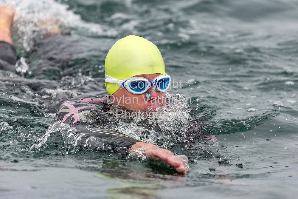 22-8-15<br /> <br /> Fiona Holland from Tramore taking part in the 4.2KM Tramore Bay Swim at Tramore, Co Waterford in aid of the RNLI and supported by Genzyme, a Sanofi Company.<br /> Picture Dylan Vaughan