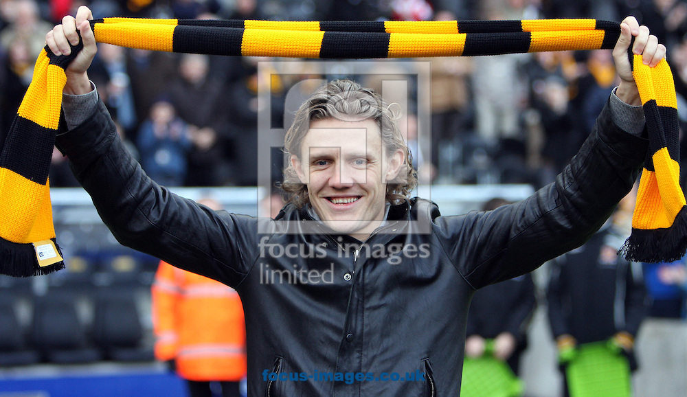 Hull - Saturday, January 24th, 2009:  Hull City's new record signing Jamie Bullard before  the start of the game during the FA Cup fourth round match at the KC Stadium, Hull. (Pic by Darren Walker/Focus Images)