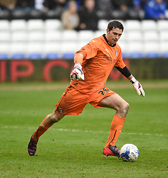 Rotherham United's Emiliano Martinez in action during the Sky Bet Championship match between Birmingham City and Rotherham United at St Andrew's Stadium on 3 April 2015 in Birmingham, England - Photo mandatory by-line: Paul Knight/JMP - Mobile: 07966 386802 - 03/04/2015 - SPORT - Football - Birmingham - St Andrew's Stadium - Birmingham City v Rotherham United - Sky Bet Championship