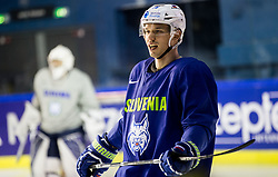 Nik Pem of Slovenia during practice session of Team Slovenia at the 2017 IIHF Men's World Championship, on May 11, 2017 in AccorHotels Arena in Paris, France. Photo by Vid Ponikvar / Sportida