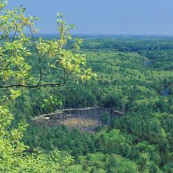 The view from the north peak of Mt. Pawtuckaway.  Pawtuckaway State Park.  Deerfield, NH