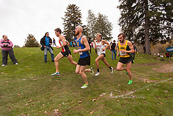 The men's 10km race at the 2013 CIS Cross Country Championships in London Ontario, Saturday,  November 9, 2013.<br /> Mundo Sport Images/ Geoff Robins