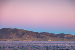 """Sunset at Pyramid Lake, Nevada 3"" - Sunset photograph of Pyramid Lake in Nevada. The tufa Pyramid can be seen in the distance."