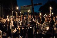 """Roma 24 Ottobre 2015<br /> La Via crucis del «popolo dei gitani»: in 5000 da tutto il mondo al Colosseo per ricordare l'incontro che papa Paolo VI  fece cinquant'anni fa, durante il Concilio. Il Consiglio pontificio per la pastorale dei migranti, in collaborazione con la Comunità di Sant'Egidio, la Diocesi di Roma e la Fondazione  Migrantes, ha organizzato il pellegrinaggio del «popolo dei gitani». <br /> Rome 24 October 2015<br /> The Via Crucis of the """"people of the Gypsies"""": in 5000 from all around the world at the Coliseum to remind the meeting that Pope Paul VI did fifty years ago, during the Council. The Pontifical Council for the Pastoral Care of Migrants, in partnership with the Community of Sant'Egidio, the Diocese of Rome and the Migrantes Foundation, organized the pilgrimage of the """"people of the Gypsies."""""""