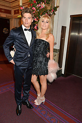 PIXIE LOTT and OLIVER CHESHIRE at The Backstage Gala hosted by Diana Vishneva , Principal Dancer of the Mariinsky and American Ballet Theatre, and Natalia Vodianova in aid of The Naked Heart Foundation held at The London Coliseum, St.Martin's Lane, London on 17th April 2015.