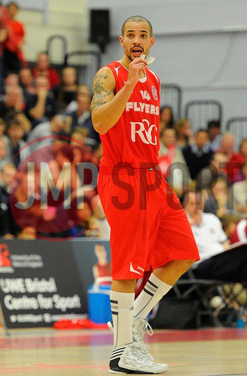 Bristol Flyers' Doug McLaughlin-Williams  - Photo mandatory by-line: Joe Meredith/JMP - Mobile: 07966 386802 - 21/11/2014 - Sport - Basketball - Bristol - SGS Wise Campus - Bristol Flyers v Surrey United - British Basketball League
