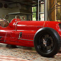 Maserati 8CM at the Panini Museum, Modena, Italy, May 2014 at the Museo Panini, Modena, Italy, 2014
