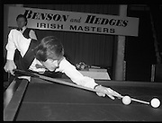 1980-05-01.1st May 1980.01-05-1980.05-01-80..Photographed at Goffs, Kill, Co Kildare..Taking Aim:..Alex Higgins lining up a shot in the Benson and Hedges Irish Masters Snooker Championships. .Denis Taylor looks on.